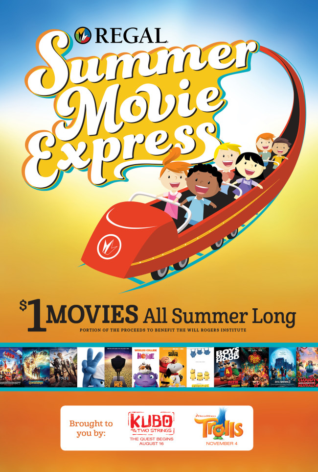 Summer Movie Express Regal Cinemas; Image Source: Regal Entertainment Group