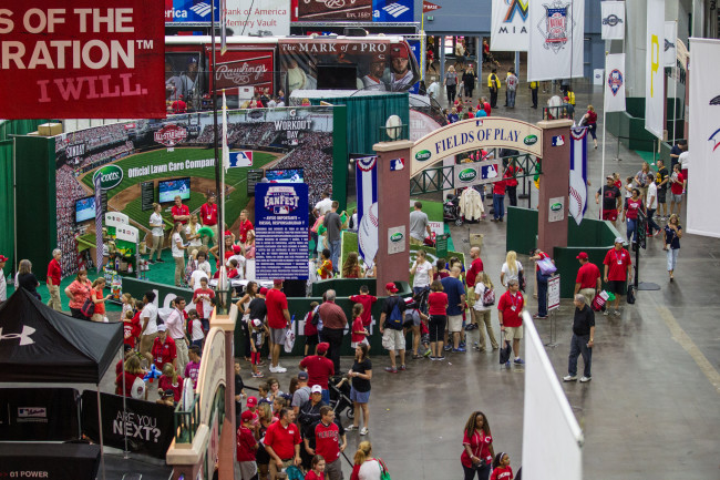 Major League Baseball Fan Fest during All Star weekend, Friday, July 10, 2015 in Cincinnati, Ohio. (Photo by J.Geil / MLB Photos)