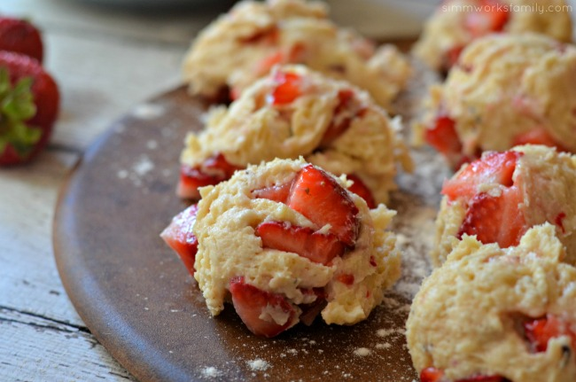 Strawberry Black Pepper Scones dough