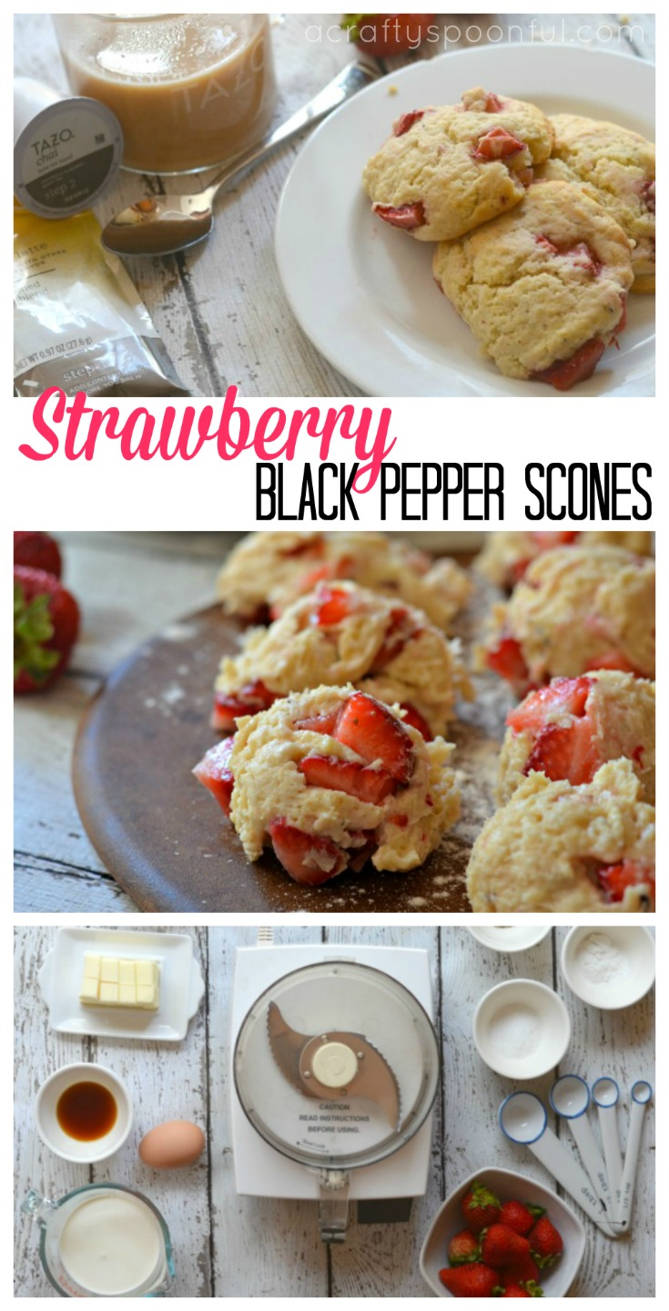 These strawberry black pepper scones are the perfect treat to nibble on while you enjoy your chai latte and read the Sunday paper. AD