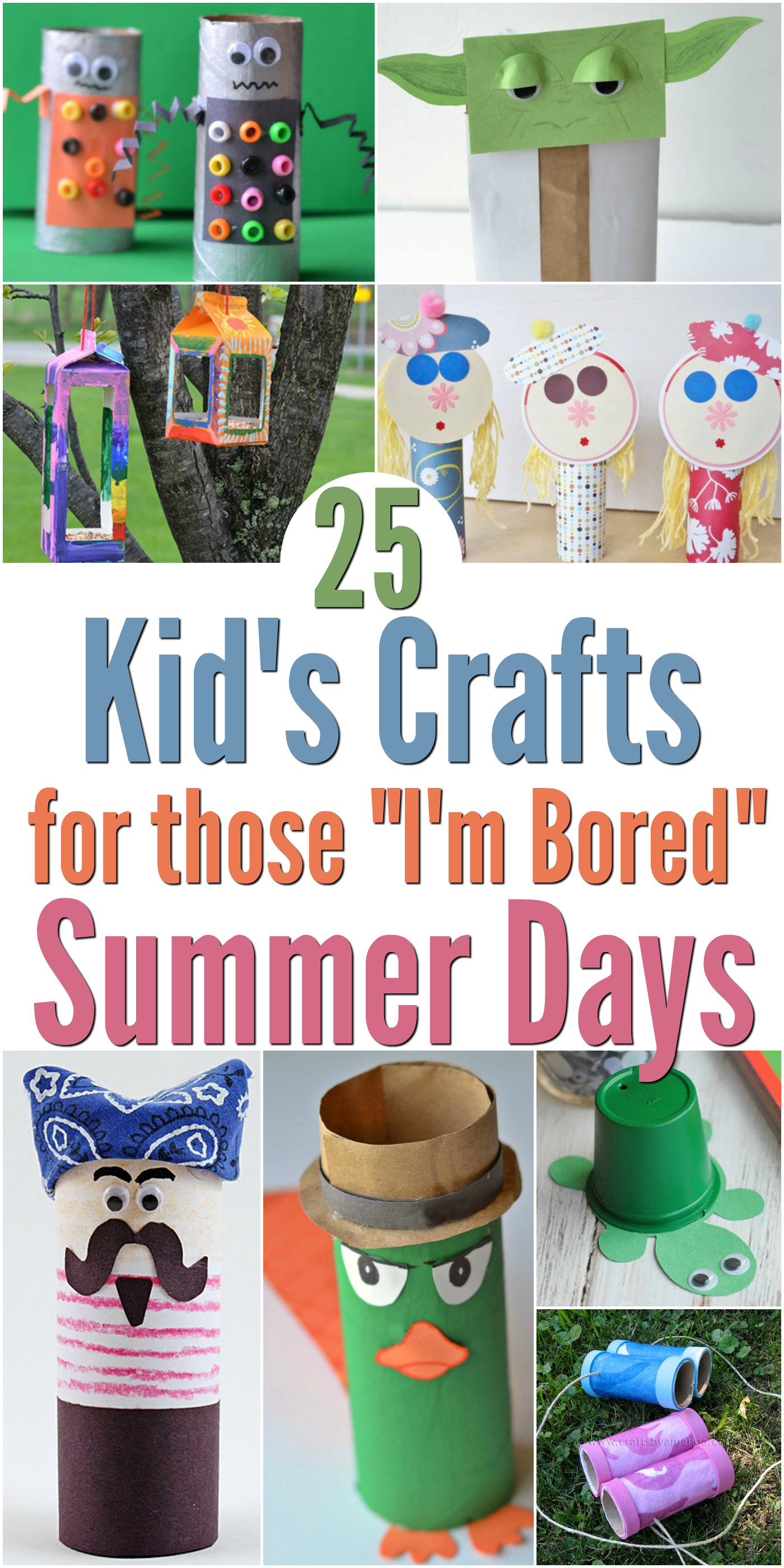25 Kids Crafts For Those I M Bored Summer Days
