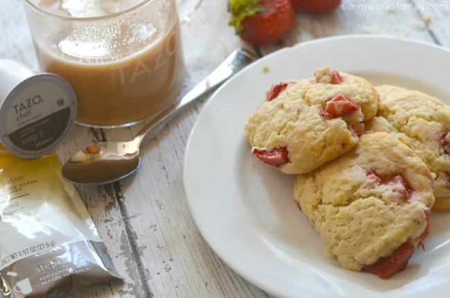 The Perfect Pairing Strawberry Black Pepper Scones + a Chai Latte
