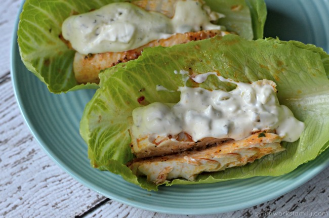 Lettuce Wrapped Salmon Tacos - delicious low carb dinner
