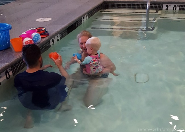 Why You Shouldn't Stop Swim Lessons After Summer - getting used to the water