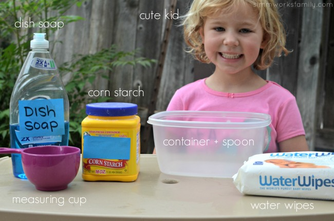 2-Ingredient Silly Putty supplies