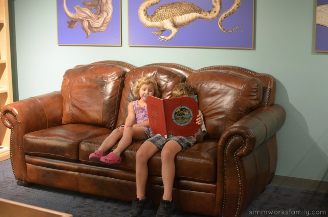 Extraordinary Ideas from Ordinary People exhibit Dragons Lair Couch