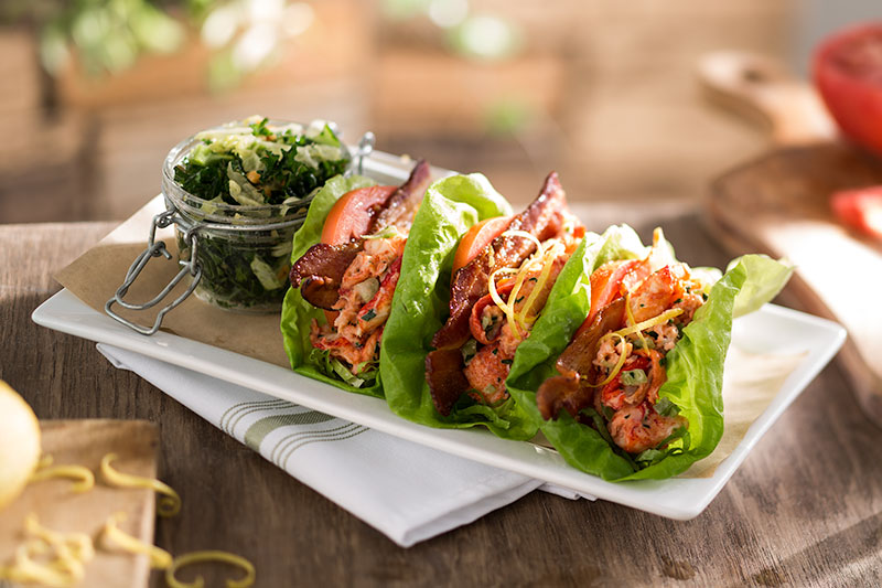 s52-lobster-blt-lettuce-wraps