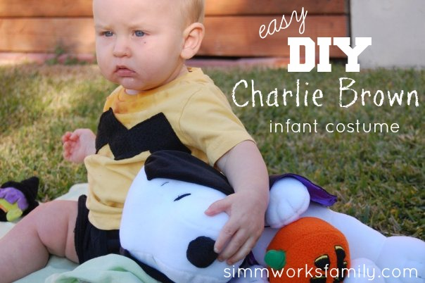 sc 1 st  A Crafty Spoonful & Charlie Brown Halloween Costume for Baby - A Crafty Spoonful