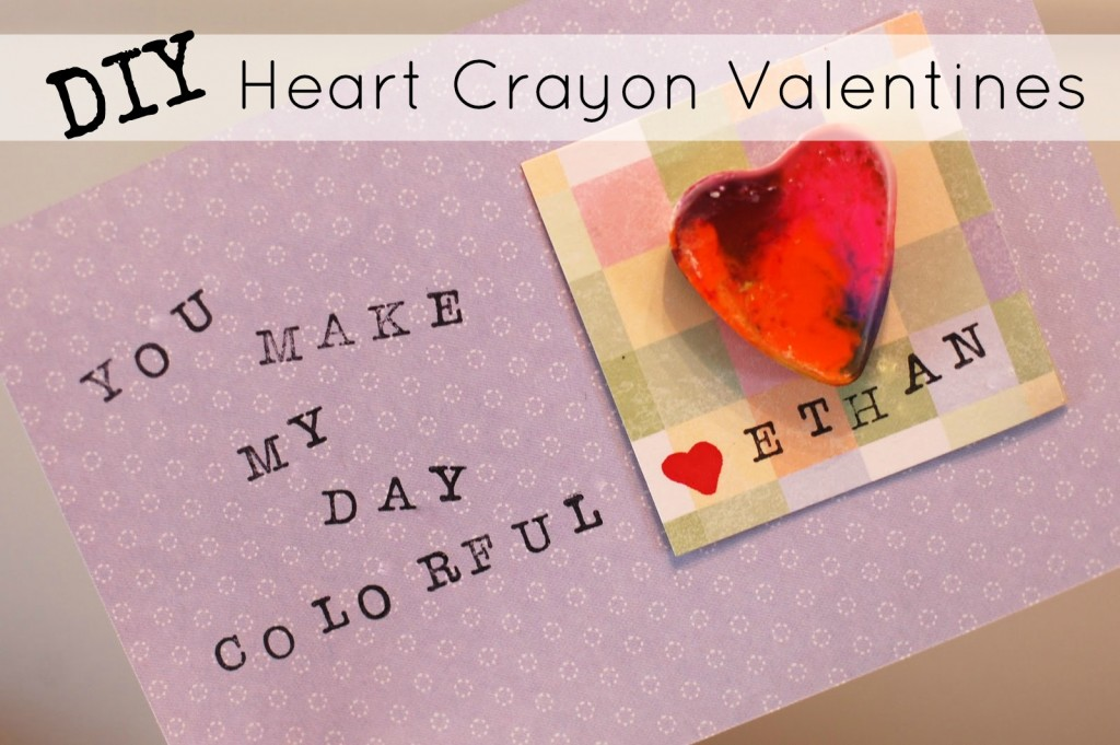 heart shaped crayon valentines diy tutorial a crafty spoonful - Valentines Sayings For Kids