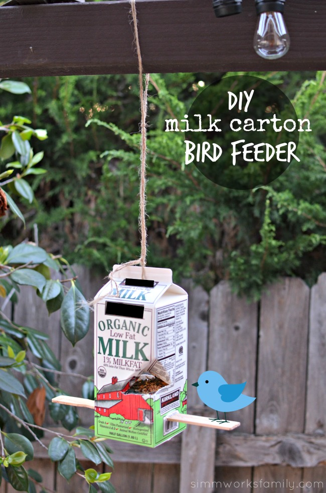 diy milk carton bird feeder after school activities for kids