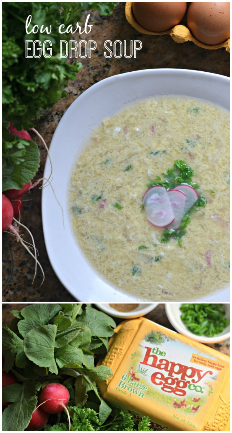 Need the perfect meal to warm you up and make you feel better when you're sick? This low carb egg drop soup is keto friendly and delicious!