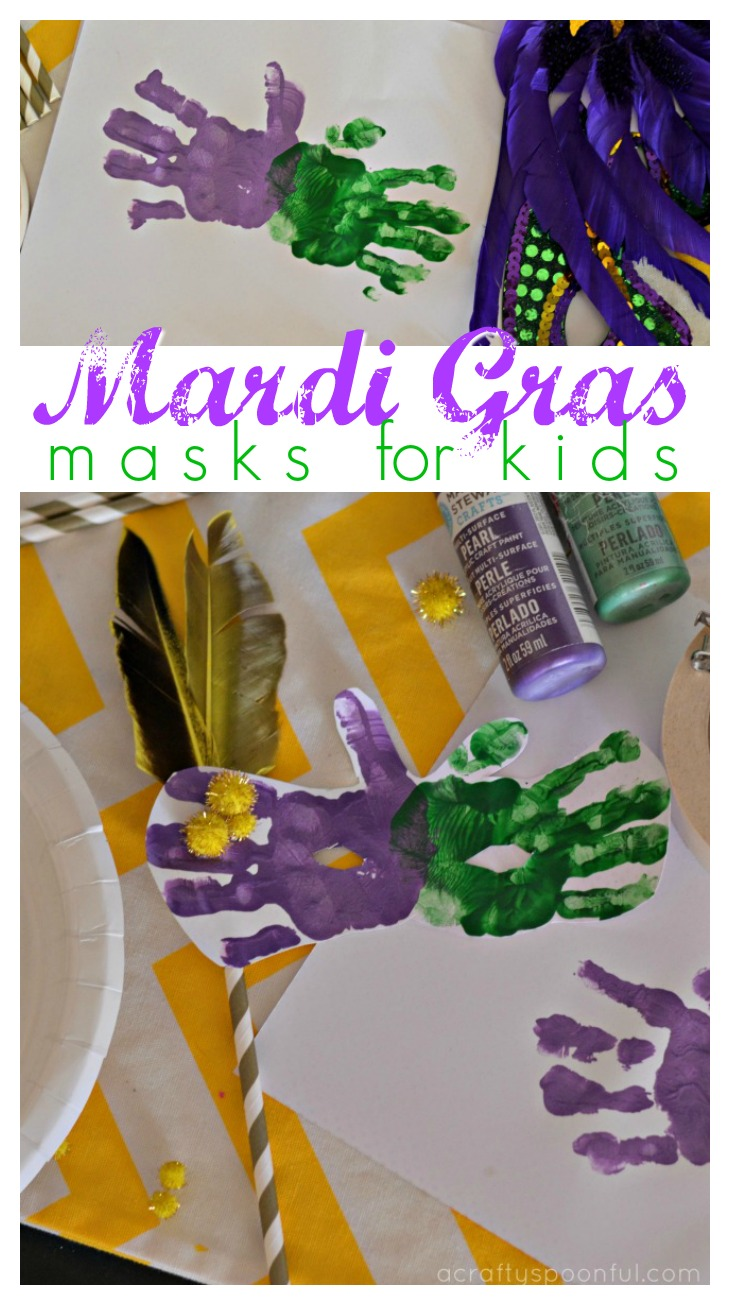 These mardi gras masks for kids are super easy to make and take only a few supplies to put together.