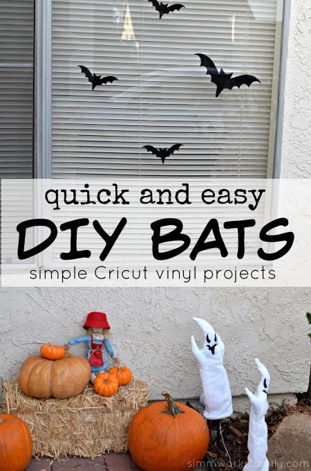 Quick And Easy Diy Bats Simple Cricut Vinyl Projects