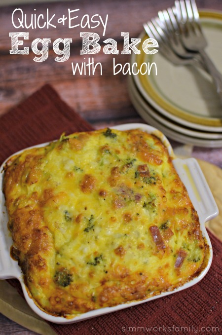 Quick And Easy Egg Bake Recipe With Bacon A Crafty Spoonful