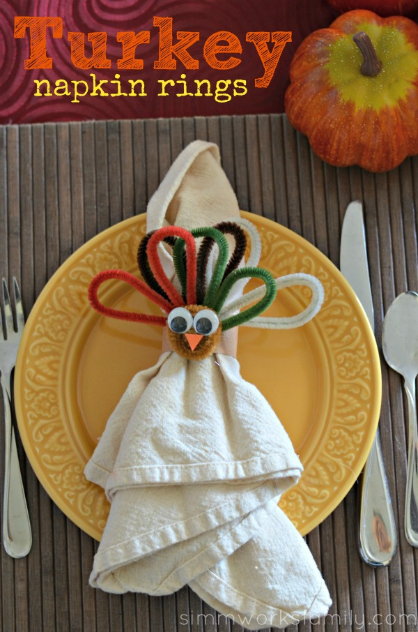 napkin craft ideas crafts turkey napkin rings for thanksgiving a 2531