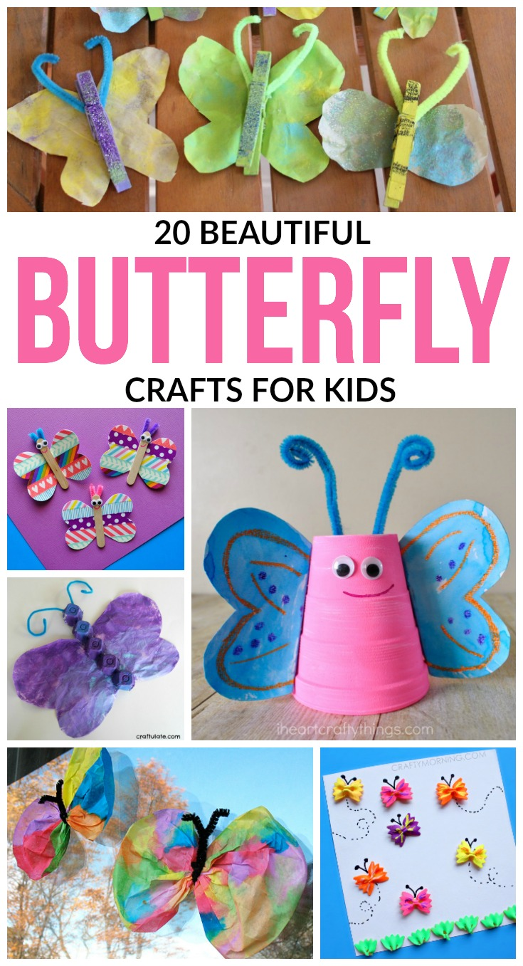 In celebration of spring, we've put together a list of 20 butterfly crafts for kids that will be perfect for celebrating spring with the littles!