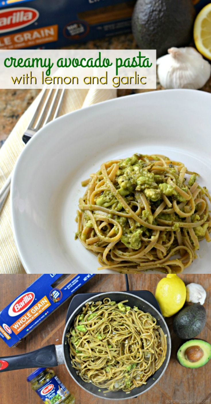 This creamy avocado pasta with lemon and garlic is ready in less than 30 minutes. AD