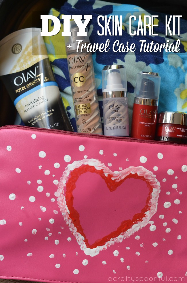 We're sharing our DIY skin care kit sponsored by Olay, plus a fun travel case tutorial to carry it around wherever you go!