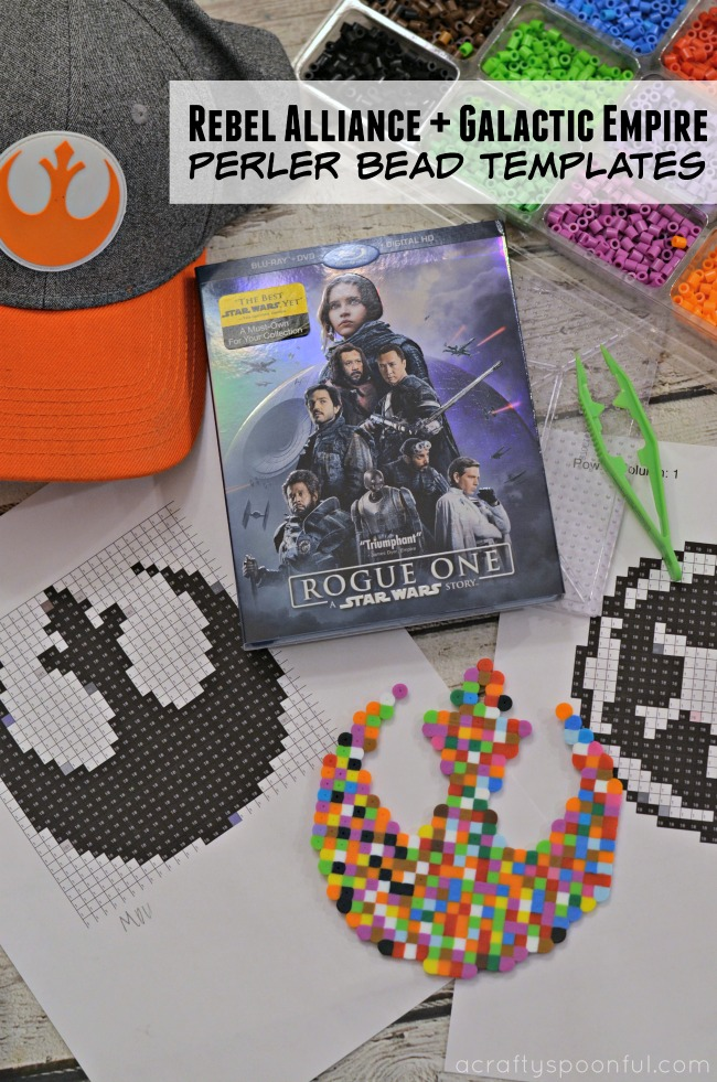 Star Wars Rogue One Perler Bead Templates: Rebel Alliance and