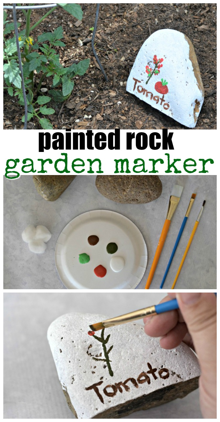 Kids helping in the garden this Spring? Why not use these painted rocks for garden markers! This craft is super easy to make and you can just use supplies you have around the house.