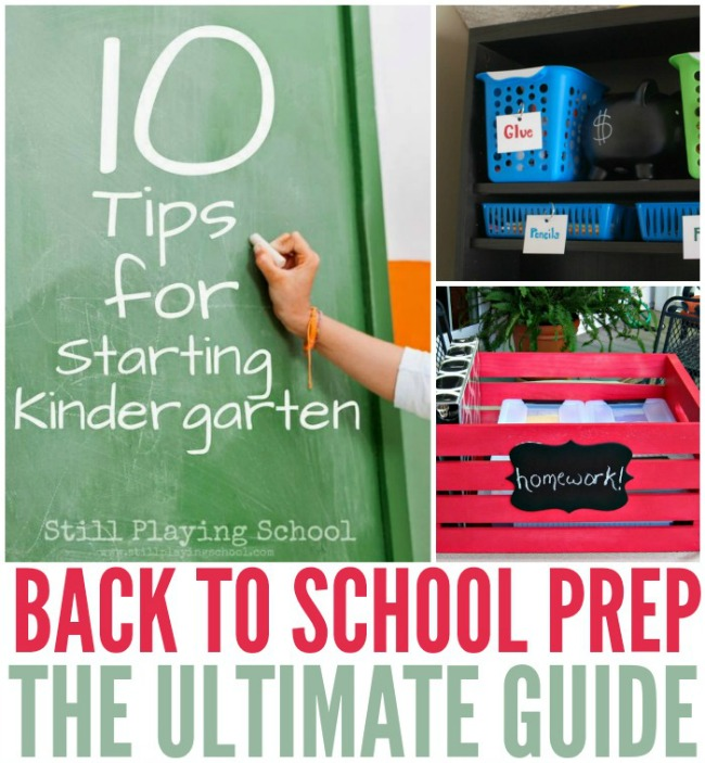 Kids heading back to school? These top tips for back to school prep are the ultimate guide in preparing for all the things needed in the new school year!