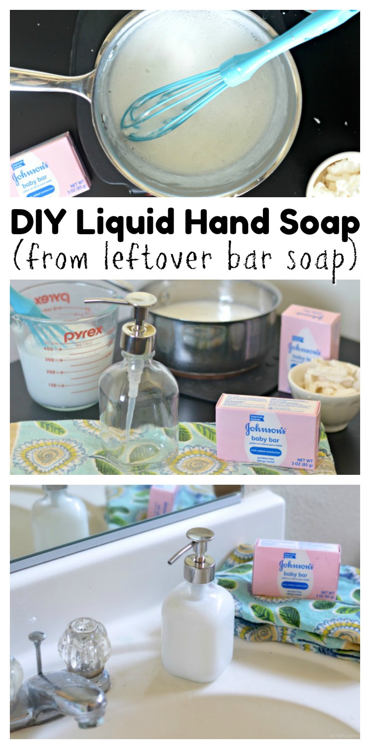 Did you know that you can save money and reduce waste by making liquid hand soap from left over bar soap? AD