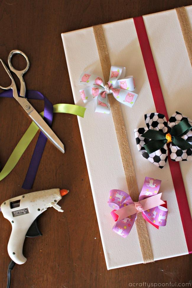 Easy Diy Hair Bow Holder Simple Bedroom Decor Ideas On A