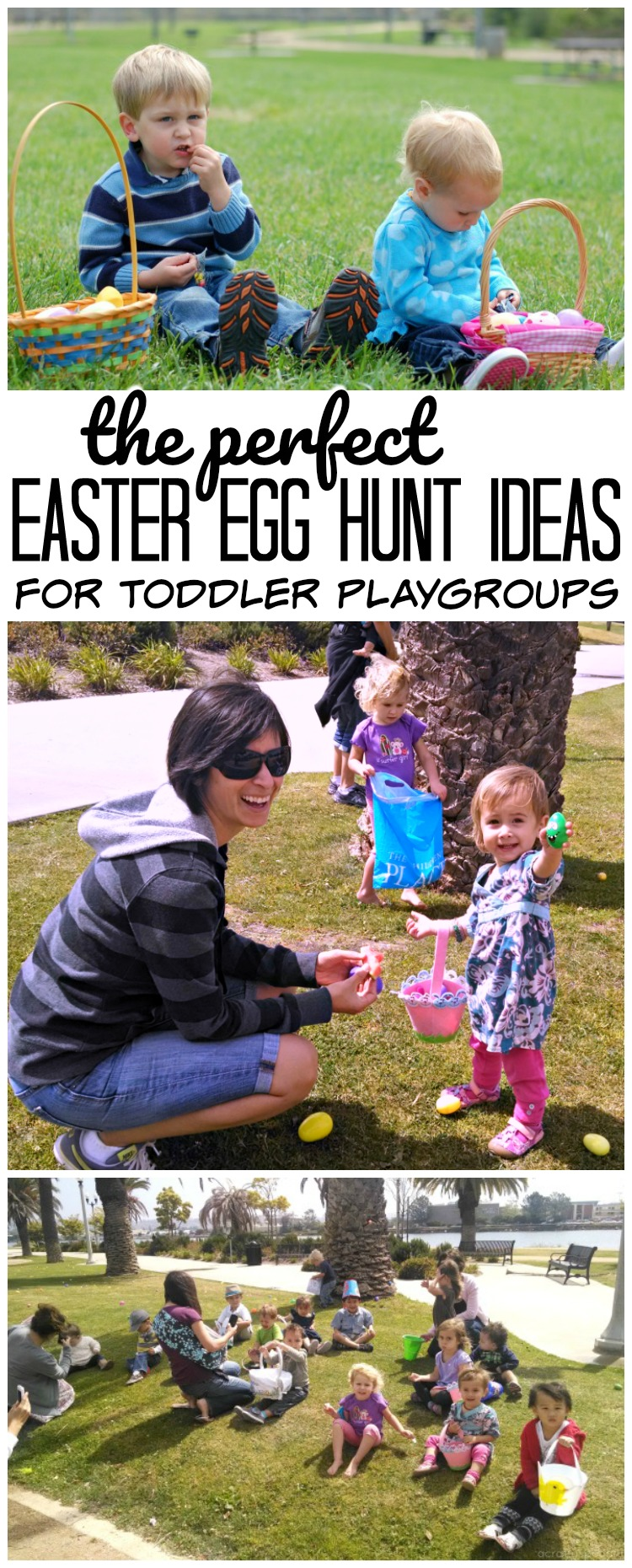 Check out these perfect Easter Egg Hunt Ideas for toddlers when you're planning an egg hunt for your playgroup.